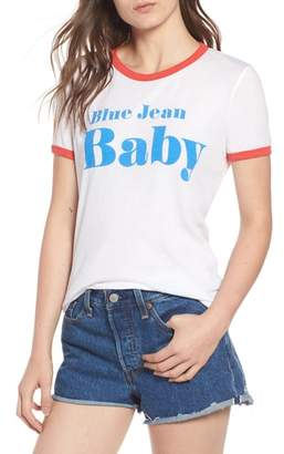 Wildfox Couture Blue Jean Baby Ringer Tee