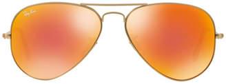 Ray-Ban Original Aviator Sunglasses Orange Mirror