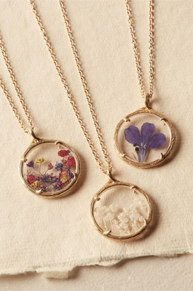 Pressed Flower Necklace $140 thestylecure.com