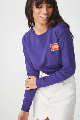 Cotton On Tbar Tammy Chopped Graphic Long Sleeve Tee