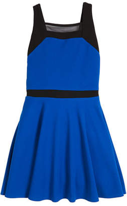 Sally Miller Slone Colorblock Square-Neck Dress, Size S-XL