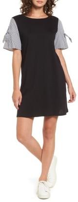Women's Socialite Poplin Sleeve Knit Dress $49 thestylecure.com