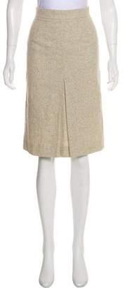 Valentino Tweed Virgin Wool-Blend Skirt