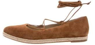 Michael Kors Lace-Up Pointed-Toe Espadrilles
