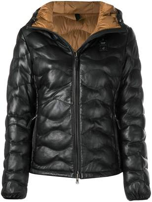 Blauer quilted leather jacket
