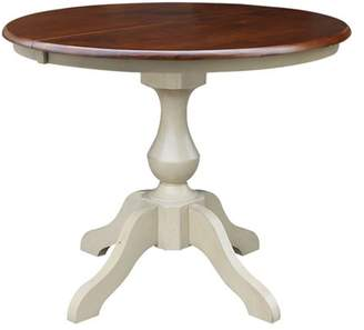 "INC International Concepts 36"" Round Top Pedestal Table with 12"" Leaf - Dining Height"