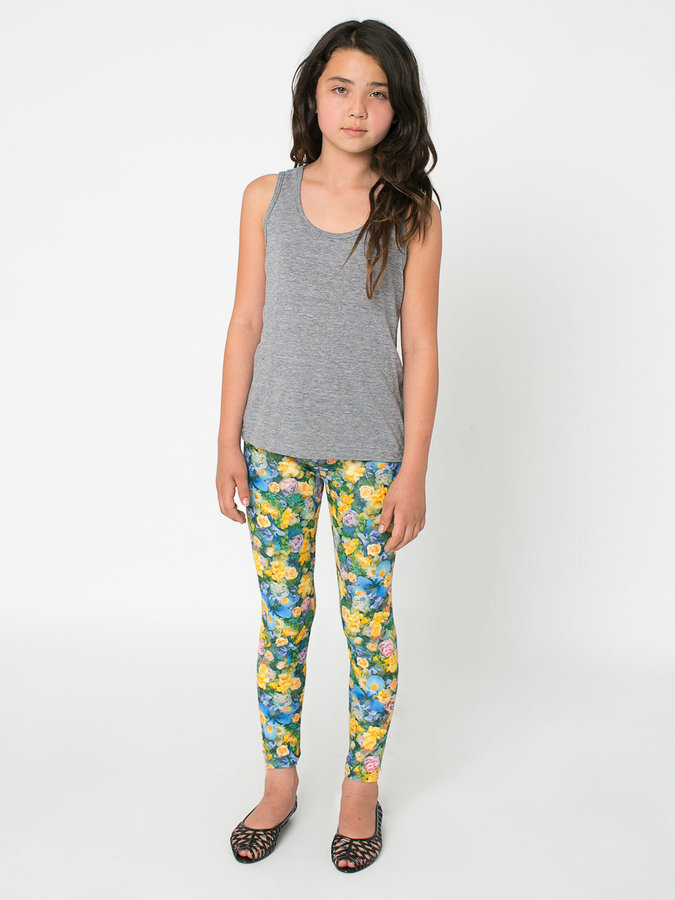 American Apparel Youth Patterned Polyester Spandex Legging