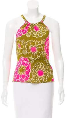 Trina Turk Sleeveless Floral Print Top