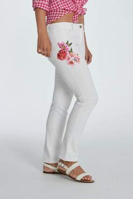 Elliott Lauren Floral Applique Jean