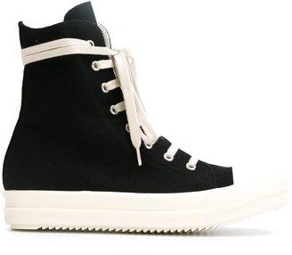 Rick Owens DRKSHDW side zip sneakers $718 thestylecure.com