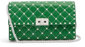 Valentino Rockstud Spike quilted-leather clutch