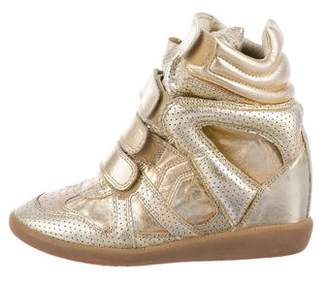 Isabel Marant Metallic Beckett Sneakers