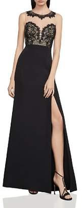 BCBGMAXAZRIA Lace-Bodice Gown