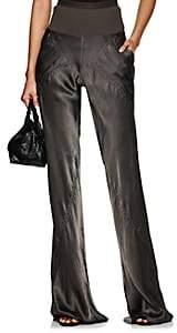 Rick Owens Women's Bias-Cut Tech-Satin Wide-Leg Pants - Dark Dust