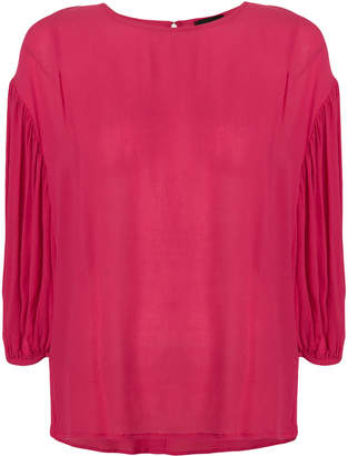 Roberto Collina gathered shift blouse