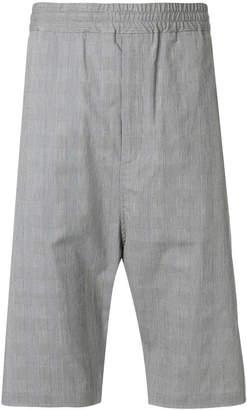 Neil Barrett checked shorts