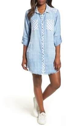 BILLY T Mixed Plaid Shirtdress