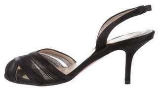 Christian Louboutin Satin Slingback Sandals Black Satin Slingback Sandals