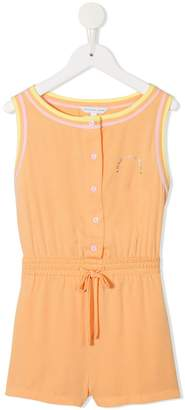 Little Marc Jacobs sleeveless logo print playsuit