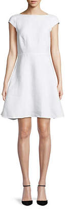 Theory Double-Faced Cap-Sleeve Dress