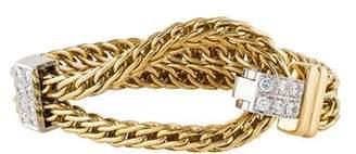 Pomellato 18K Diamond Slide Chain Bracelet
