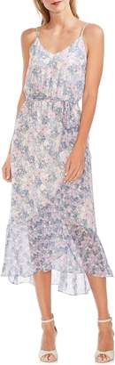 Vince Camuto Sleeveless Floral Ruffle Midi Dress