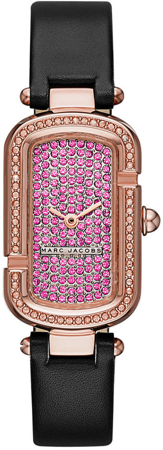 Marc By Marc JacobsMarc by Marc Jacobs Women's The Jacobs Black Leather Strap Watch 20x31mm MJ1554
