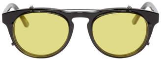 Han Kjobenhavn Black Timeless Clip-On Sunglasses