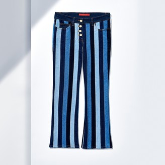 Flared Striped Jeans $390 thestylecure.com