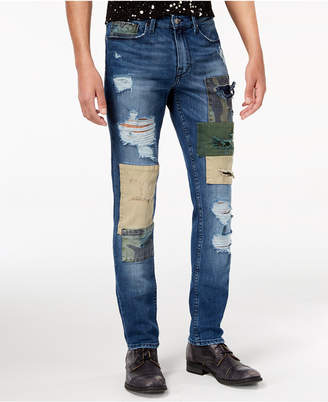 GUESS Men's Slim Tapered Fit Stretch Ripped Jeans