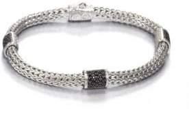 John Hardy Classic Chain Black Sapphire& Sterling Silver Four-Station Bracelet