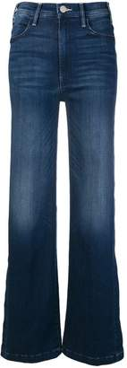 Mother side slit flared jeans
