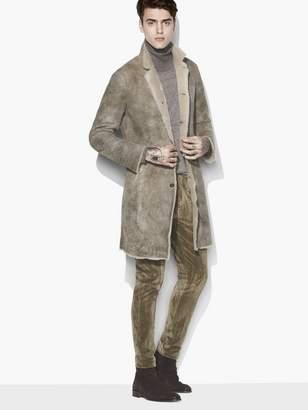 John Varvatos Shearling Long Coat