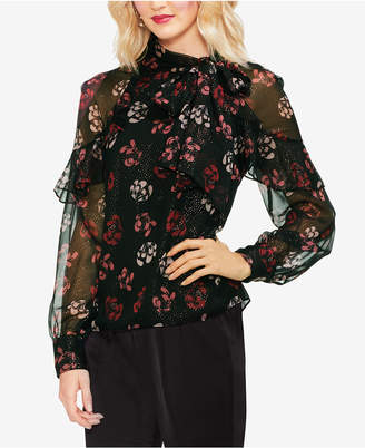 Vince Camuto Ruffled Floral Top