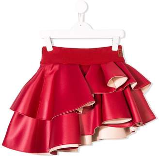 Fendi asymmetric ruffled skirt