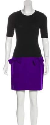 Tara Jarmon Colorblock Mini Dress