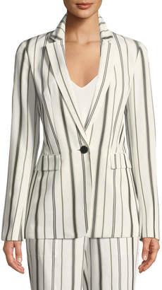 Lafayette 148 New York Marie Gallant-Striped One-Button Blazer