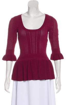Torn By Ronny Kobo Knit Three-Quarter Sleeve Top w/ Tags
