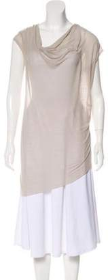 Helmut Lang Sleeveless Asymmetrical Top grey Sleeveless Asymmetrical Top