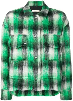 Odeeh cropped check jacket