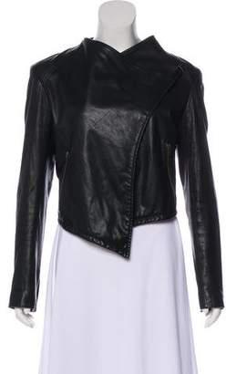 Helmut Lang HELMUT Asymmetrical Leather Jacket