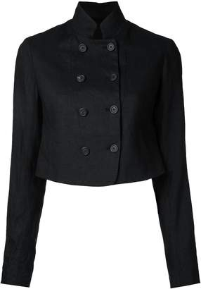 Forme D'expression double breasted cropped jacket