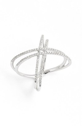 Women's Bony Levy Double X Crossover Diamond Ring (Nordstrom Exclusive) $2,250 thestylecure.com