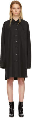 Maison Margiela Black Poplin Shirt Dress