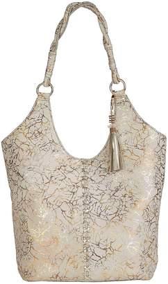 Kaleidoscope Metallic Patterned Leather Shoulder Bag