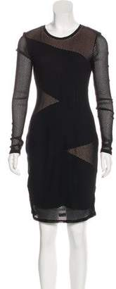 BCBGMAXAZRIA Long Sleeve Knee-Length Dress