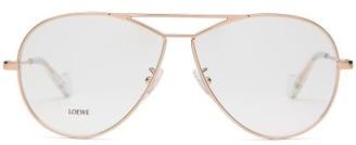 Loewe Teardrop Aviator Glasses - Womens - Rose Gold