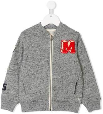 Bellerose Kids patch embellished bomber jacket