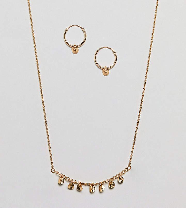 – Vergoldetes Geschenkset aus Sterlingsilber mit Creolen und Halskette