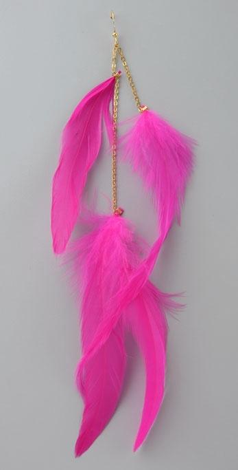 Ra Creations Skylight Feather Earring